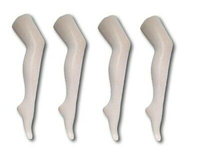 Girls White Opaque Party Dance Wedding Glitter Silver Dots Tights 2-7Years
