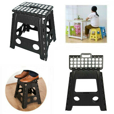 Large Wide Folding Step Stool Multi Purpose Plastic Home Kitchen Foldable Storag