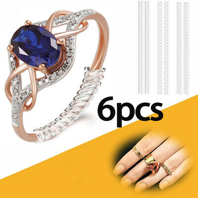 6pcs Universal Ring Sizer Size Adjuster Reducer SPIRAL STYLE Snug Jewellery Fit!