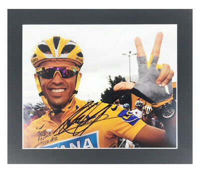 Autographed Alberto Contador Photo Display - Tour De France Winner +COA
