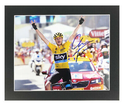 Autographed Chris Froome Photo Display - Tour De France Champion +COA