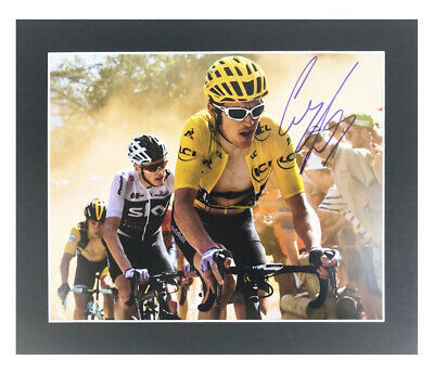Autographed Geraint Thomas Photo Display - Tour De France Winner +COA