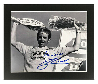 Autographed Joop Zoetemelk Photo Display - Tour De France +COA