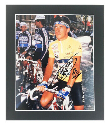 Autographed Pedro Delgado Photo Display - Tour De France Champion +COA