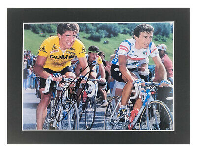 Signed Pedro Delgado Photo Display - Tour De France Winner +COA