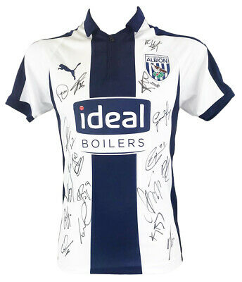 Signed West Bromwich Albion Shirt - Fully Autographed Jersey +COA