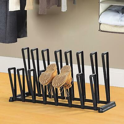 8 Pairs Boot Shoe Rack Welly Holder Stand Storage Wellington Hold Display