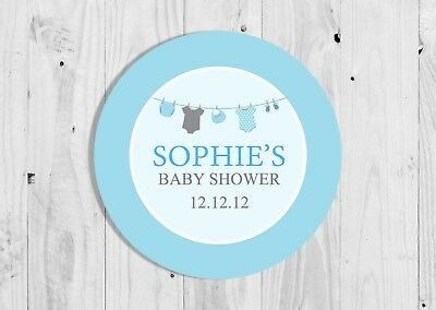 Baby washing line thank you cards x 10 Girl or Boy Personalised W25A - W25B