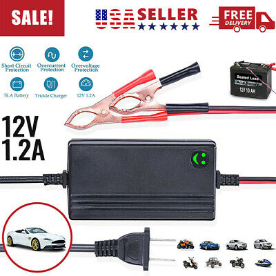 12V Car Battery Charger Smart Auto Trickle Maintainer Truck Motorcycle Boat RV