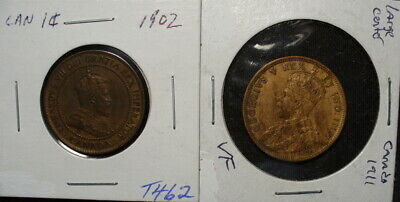 Two Canada Large Cents
