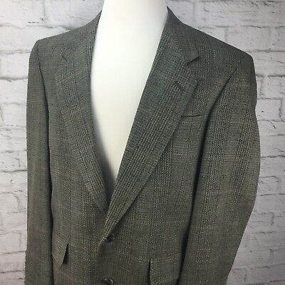 Austin Reed Mens 40R Gray tweed silk blazer Two Button sport coat