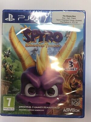 Spyro Reignited Trilogy (PS4) 3 Spyro The Dragon Games New and Sealed