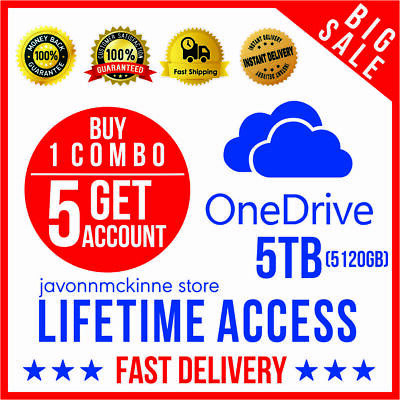Buy 1 Combo Get 5 Onedrive 5TB Lifetime Account - Best Price - Fast Delivery