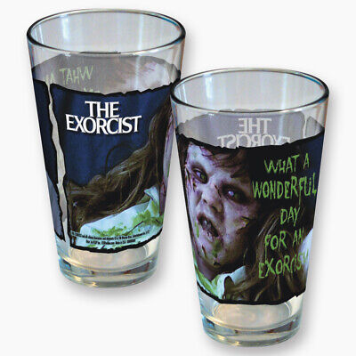 The Exorcist Movie What a Wonderful Day For An Exorcism 2 Sided Pint Glass NEW