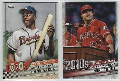 2020 Topps Series 1 Baseball DECADES BEST Insert Complete Your Set - You Pick!
