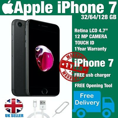 Apple iPhone 7 64GB/128GB/256GB Space Grey . Silver - UNLOCKED