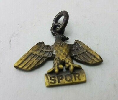 SPQR Ancient Roman Bronze-in original style  Amulet  medallion pendant