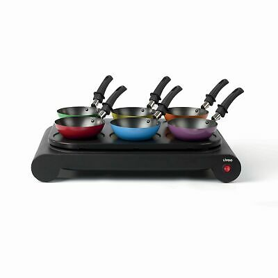 Livoo Dom200 Wok Set Party Tischgrill Elektro Wok Pfanne Crepe Maker 67400387