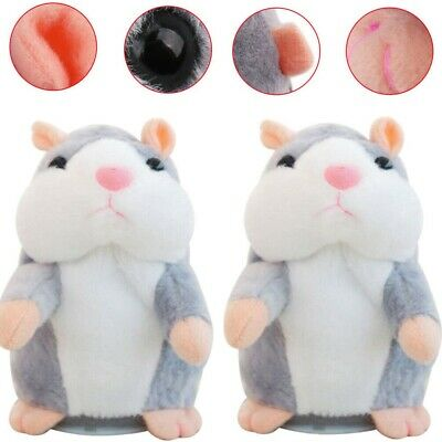 1-2 PCS Talking Hamster Electronic Plush Toy Mouse Pet Sound Gift For Children