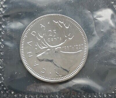 *** Canada  25  Cents  1992 ***  Sealed  Proof  Like  *** Key  Date  ***