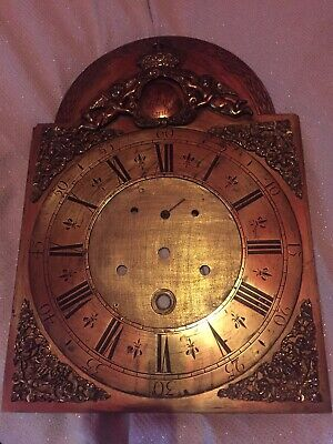 Antique Brass 18th Century Longcase Dial (Only) By Thomas Millner London 12x16