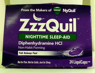 ZzzQuil Nighttime Sleep Aid 48ct LiquiCaps Exp 06/21