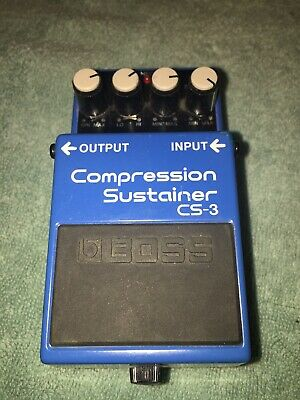 Boss CS-3 Compression Sustainer Guitar Effect Pedal Made In Taiwan. Used.