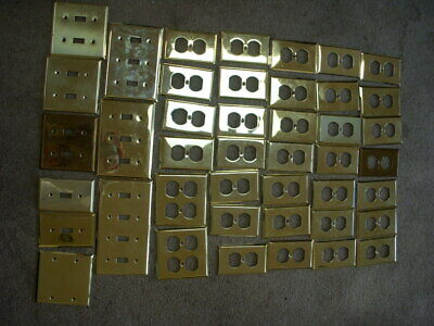 43 pc Brass Outlet,  Switch Covers
