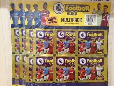 5 × Panini Football Premier League 2020 Multipack Official Sticker rrp £19.95
