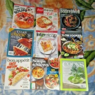 Mixed Lot of 9 Food Cooking Recipe Magazines 2020 Brand New Free USA Shipping