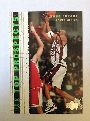 UD Upper Deck Kobe Bryant HAND SIGNED Auto Autographed Card with COA Merion