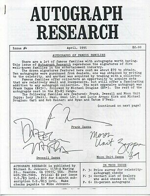 Autograph Research #4, April 1991, underground newsletter; Frank Zappa cover