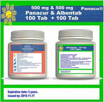 DEWORM PANACU® PANACUR 70 TABLETS / 500 mg TABLETS DOG CAT ANIMALS Helmintazole