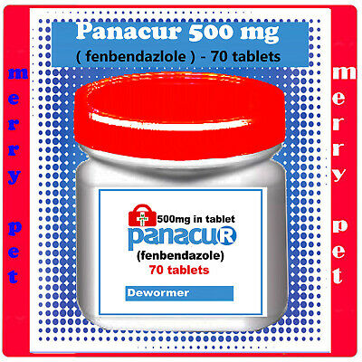 DEWORM PANACU® PANACUR 50 TABLETS / 500 mg TABLETS DOG CAT ANIMALS Helmintazole