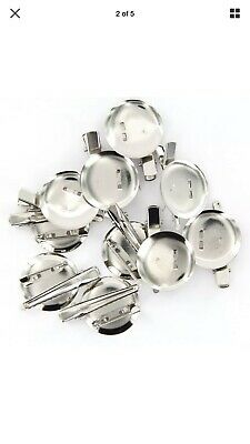 100 Large Dual Brooch Pin Back Hair Clip Jewellery Making Crafts Badges Bows