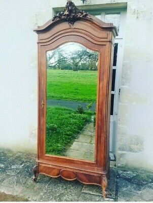 Antique French Armoire, Louis XV, Beautiful Rocco Wardrobe