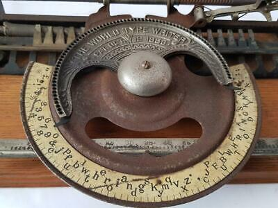 Antigua maquina de escribir WORLD index rare TYPEWRITER 1893