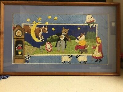 Nursery Rhythm Long Stitch Framed