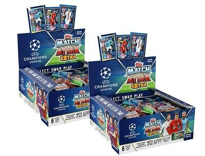 Topps Match Attax EXTRA Ligue des Champions 2019//2020 2 x Displays 60 Booster