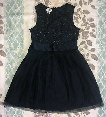 Girls Special Editions Formal Dress Size M 7/8 Dark Blue Sequin Top NWT