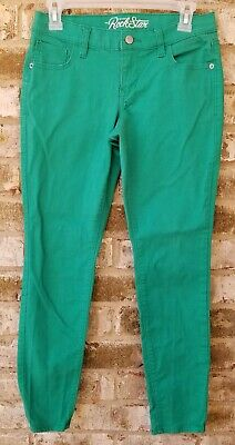 Old Navy Rockstar Skinny Jeans Size 8  Womens Midrise Stretch Green Ankle