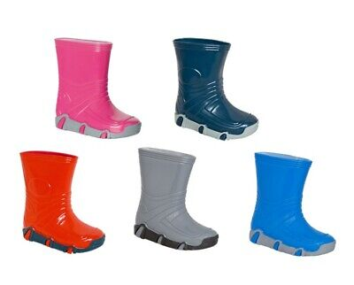 Kids Boys Girls Wellington Boots Wellies Rain Boots Size 4.5-3 UK / 21-36 EU