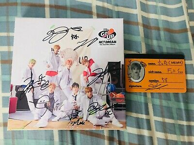 (With 1 photocard) NCT DREAM AUTOGRAPH SIGNED WE GO UP ALBUM