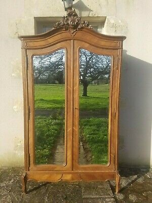 Antique French Armoire, Louis XV, Old Double Linen Press