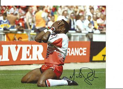 Rugby League Autograph Martin Offiah Wigan Signed 10x8 inch Photograph JM308