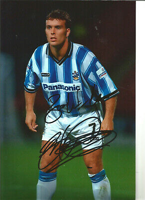 Football Autograph Ben Thornley Manchester United Signed 12x8 in Photograph JM52