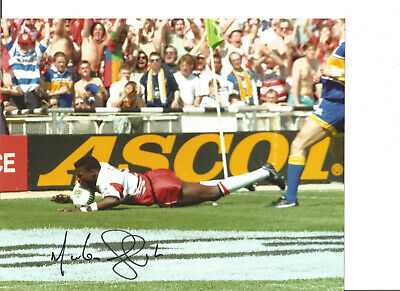 Rugby League Autograph Martin Offiah Wigan Signed 10x8 inch Photograph JM309