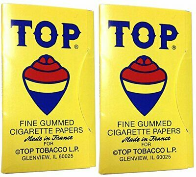 2 Pack Top 70 mm RYO Cigarette Tobacco Rolling Papers 200 Leaves