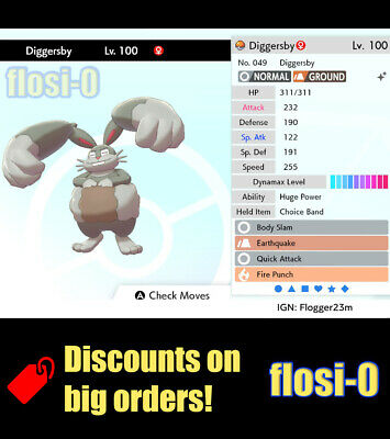 6IV Shiny Diggersby (Ultra / Square Shiny) Poke Guide [Sword and Shield]