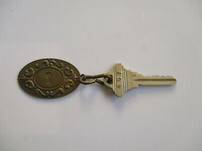 1960s Beverly Rodeo California Hills Hotel Motel Room Key Fob Tag Ring